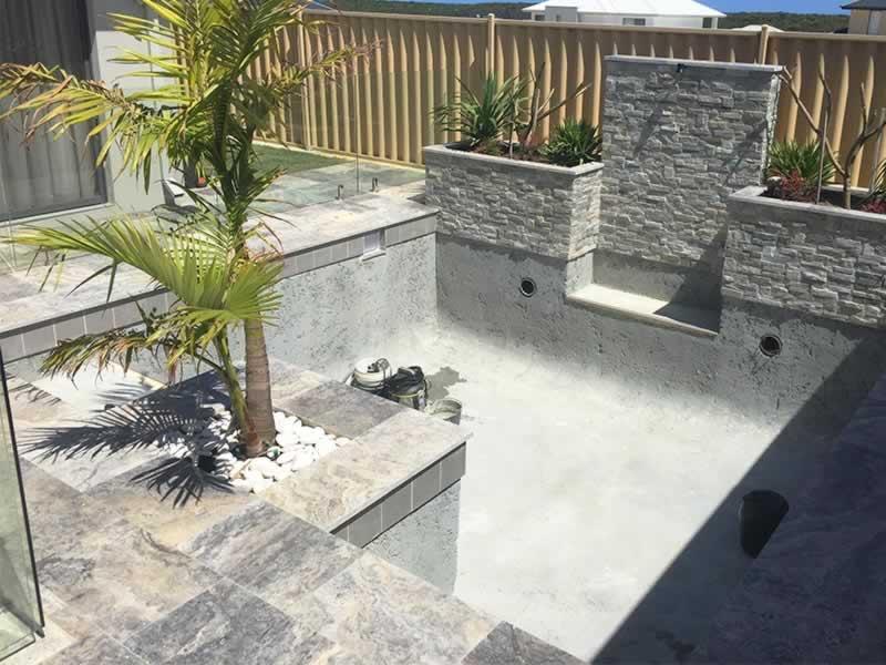 Concrete swimming pools perth construction process for Concrete pool construction