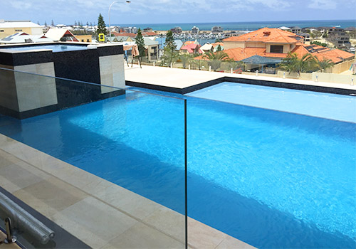 Medium size concrete swimming pools perth - Swimming pool water features perth ...